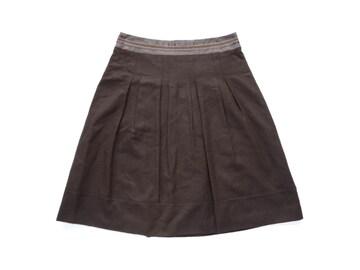23区 茶 膝丈 フレア スカート 40 L