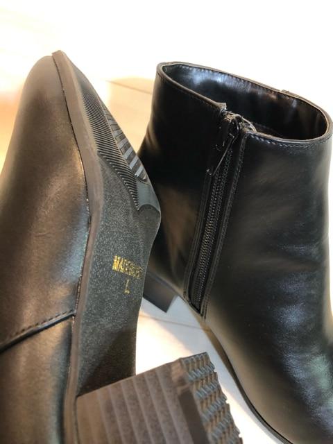 新品☆L24〜24.5シンプルきれいな黒ショートブーツm122 < 女性ファッションの