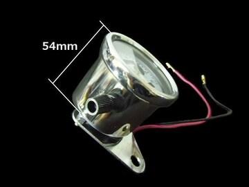 機械式 スピードメーター 60mm LED付/スティード SR バイク 汎用