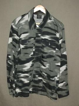 USA購入【Oakley】黒灰迷彩 綿100%【DawnShacket Jacket】US L