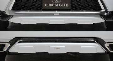 "LX MODE 塗装済フロント/リア SET (RX200t ""F SPORT""専用)"