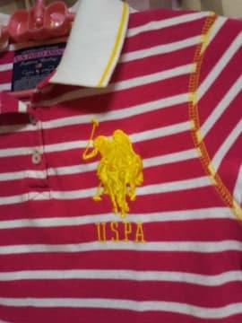★US POLO ASSN オシャレデザイン 刺繍有り サイズS Tシャツ 気品 エレガント●