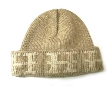 正規美品エルメス帽子ニット帽ニットキャップMEベージュニ