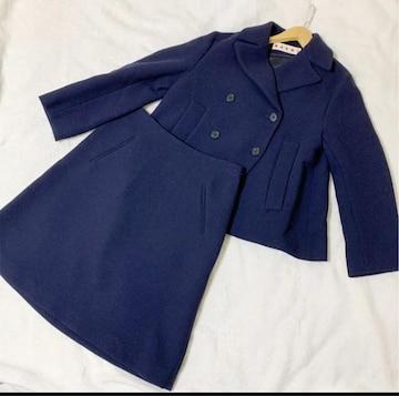 MARNI マルニ ウール ダブルジャケットスーツ ネイビー 紺色