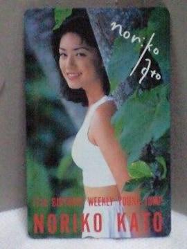 加藤紀子ヤングジャンプ17周年記念テレカ��28