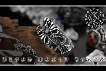 オラオラ系悪羅悪羅系/ヤクザ&ホスト&メンナク/サージカルステンレスリング14052黒-25号