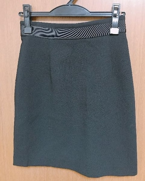 Я】�@ルッシェルブルースカート ウエストリボンデザイン 38サイズ