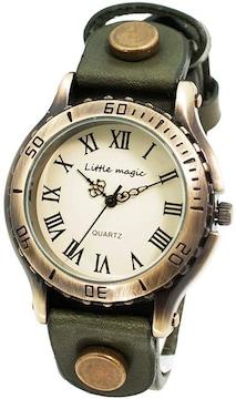 アンティーク 風 腕時計 ダークブラウン