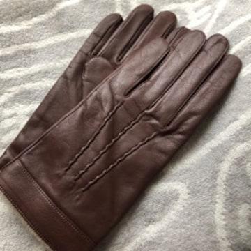 大きめサイズ ライナーニット皮革手袋