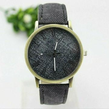 新品 腕時計 シンプル カジュアル 黒