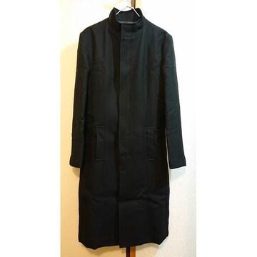 5351 POUR LES HOMMES スタンドカラーコート 黒