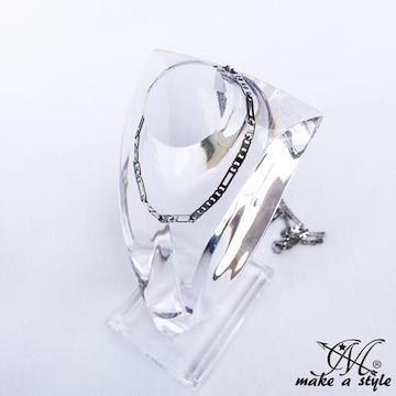 フィガロリンク チェーン 銀 シルバー ネックレス セレブ 583
