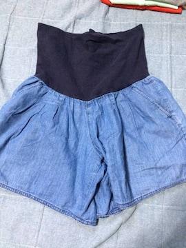 無印マタニティ!キュロットスカート!美品