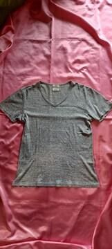 BEAUTY&YOUTH UNIED ARROWS 杢グレー半袖コットンVネックTシャツ