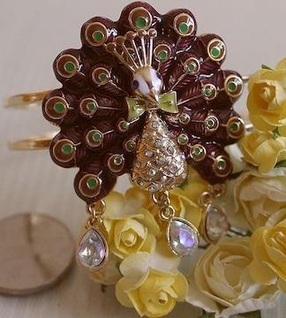 新品ゴスロリ姫系アンティーク調孔雀ブレスレットバングル