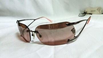 正規新古 絶版 ヴェルサーチ VERSACE メデューサスポーティーフレームレスサングラス紫系