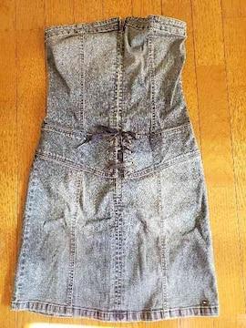 tommy jeans☆デニムビスチェワンピ