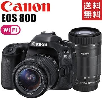 canon キヤノン EOS 80D ダブルズームキット Wi-Fi搭載