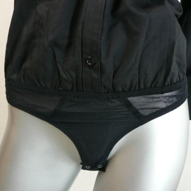 【新品★40】ボディーシャツ★シャツの気崩れ防止!黒★日本製 < 女性ファッションの