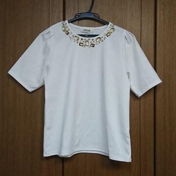 LADYMADE/レディメイド/ビジュー付トップス/白ホワイト/フリー