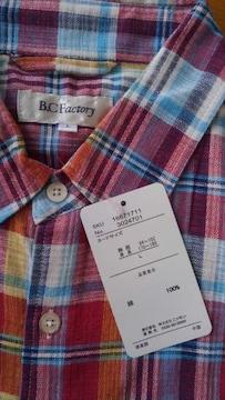 Lサイズ涼しい素材ドビー素材!デニムにピッタリ!半袖シャツ!新品!