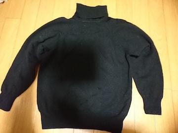 ハイネック タートルネック セーター ウール100%