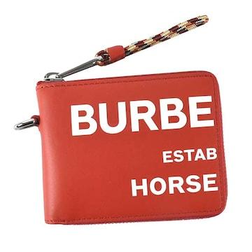 ◆新品本物◆バーバリー DANIELS 2つ折財布(RED)『8037589』◆