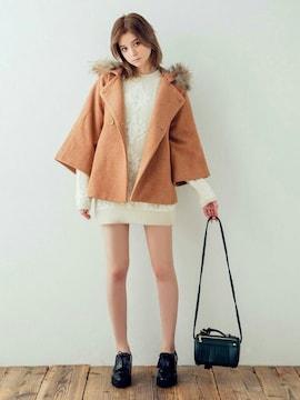 新品◆ダズリンdazzlin◆ケープ風コート◆キャメル◆完売