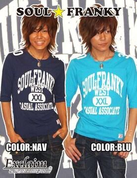 SOULFRANKYアメフトFRANKY五分丈Tシャツ/S梅しゃん