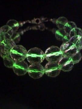 天然石光る超キラキラトライアングルカット水晶ブレスレット12�o