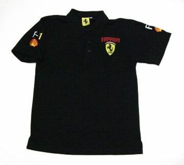 1セール!  フェラーリ  ポロシャツ ブラック M