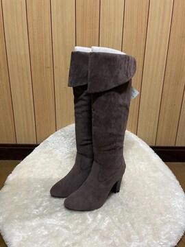 1.8万新品タグ付きINDIVI★スエードロングブーツ