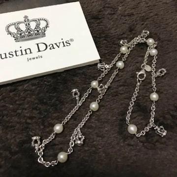 新品◆JUSTIN DAVIS◆COCO CHOKER◆40cm◆パール◆7万円◆