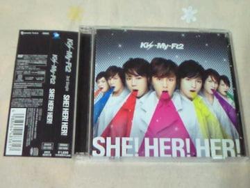 CD+DVD Kis-My-Ft2 SHE!HER!HER! 初回限定盤