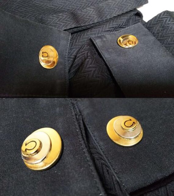 正規 オメガOMEGA Ω ヴィンテージ 3オーバルロゴカフス金×銀 トリニティーカフリンクス < ブランドの