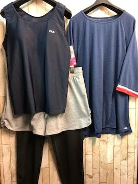新品☆LL19号FILA水着4点セット体型カバー♪Tシャツ付きj790