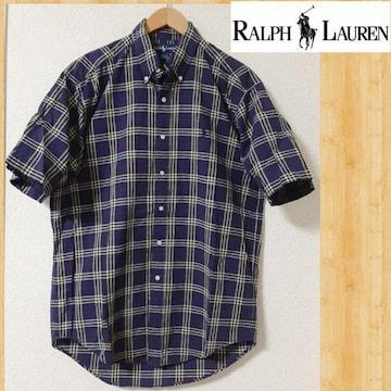RALPH LAUREN ラルフローレン チェックシャツ M BLAKE ロゴ刺繍