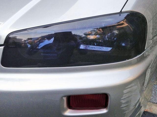 Tint+再利用OK スカイライン R34 セダン ヘッドライト スモークフィルム < 自動車/バイク