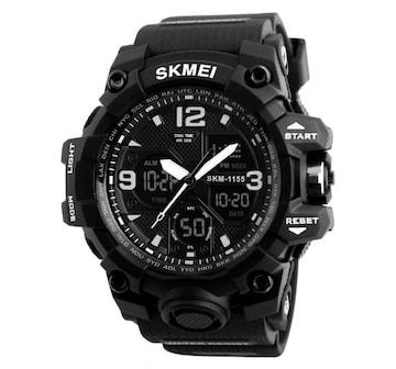 SKMEI 1155B スポーツウォッチ(ブラック)