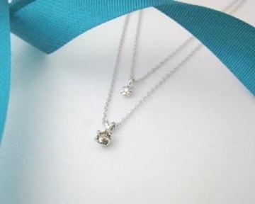 【4月の誕生石ダイヤモンド】シルバー925ネックレス