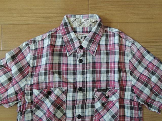 ヒステリックグラマーHYSTERIC GLAMOURリネンチェックシャツS麻 < ブランドの