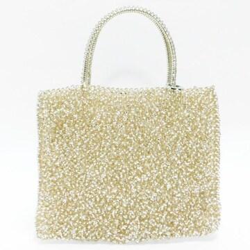 美品アンテプリマ ハンドバッグ シャンパンゴールド 良品 正規品