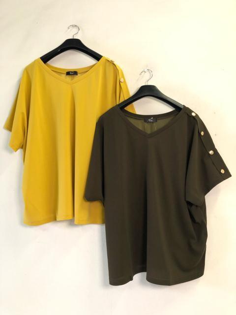 新品☆6L♪おでかけドルマントップス2枚セット☆d911 < 女性ファッションの