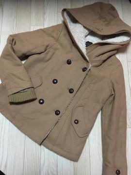 H185/リップスター/ベージュ/帽子付き/アウター/