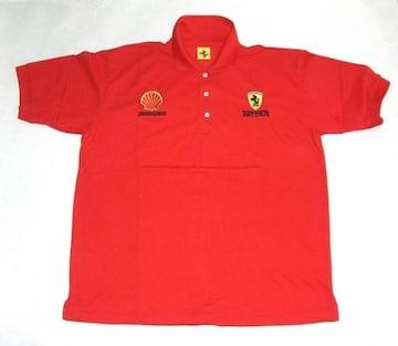 1セール!  フェラーリ ロゴ  ポロシャツ レッド f121