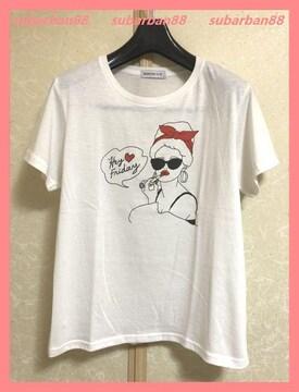☆WEGO☆美品☆涼感柔らか♪リップガールTシャツ☆