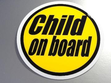 Child on boardイエローステッカー/子供が乗ってます