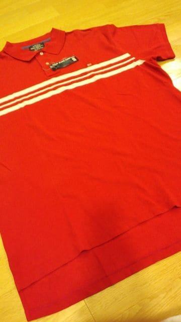 新品POLORALPH LAUREN カノコポロシャツ 赤ボーダーサイズXL→2XL位  < ブランドの