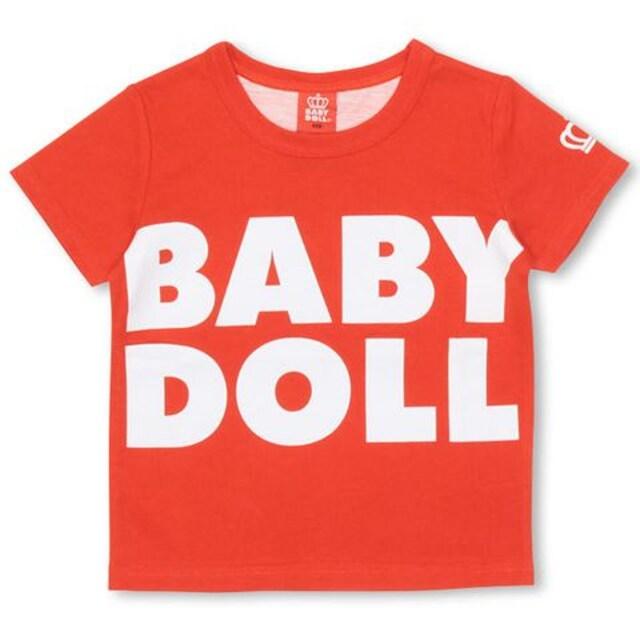 新品BABYDOLL☆140 ロゴ&BIGハートTシャツ 赤 ベビードール  < ブランドの
