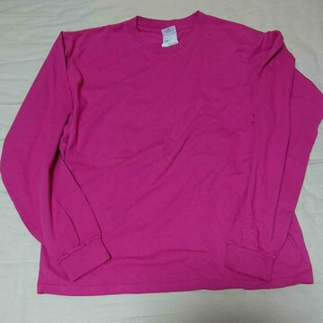 anvilピンク長袖Tシャツ 新品未使用